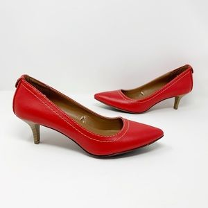 Calvin Klein Jeans red Kaleigh pointed toe heels